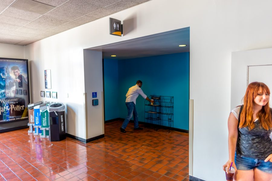 Photo of the entrance to the restrooms.