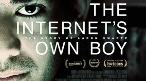 poster for documentary film about Aaron Swartz, The Internet's Own Boy