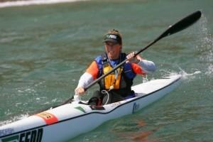 photo of DeAnne Hemmens paddling a Fenn Swordfish from the Fenn Kayaks website