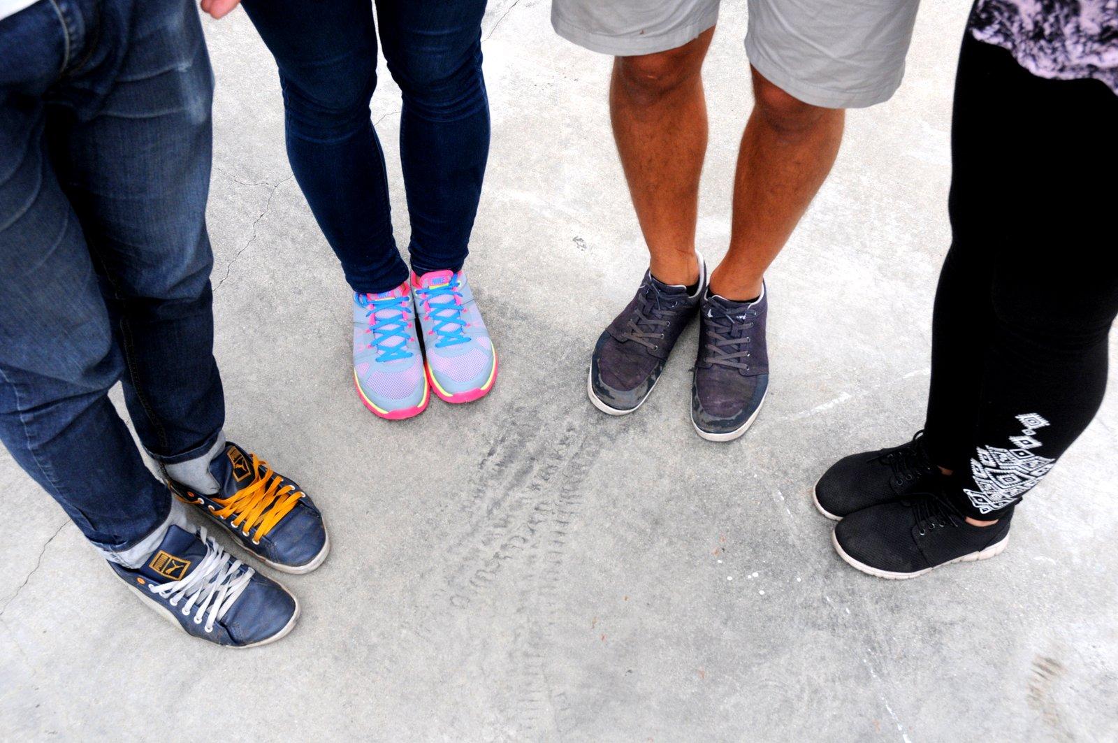 Denes, Eszter, Akos & Csenge's feet!