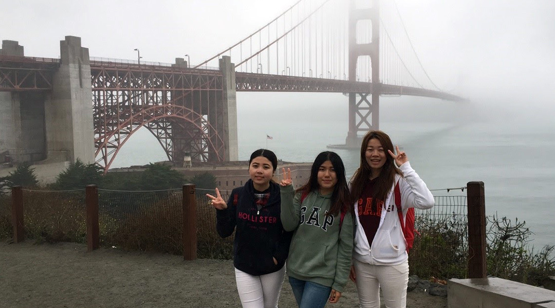RuRu & Angel at the Golden Gate Bridge in San Francisco