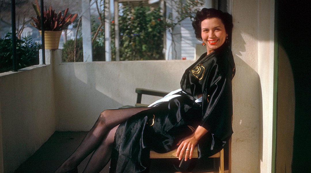 vintage image of Sheila Zucman sitting in a chair