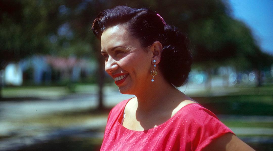 Vintage close-up photo of Sheila Zucman