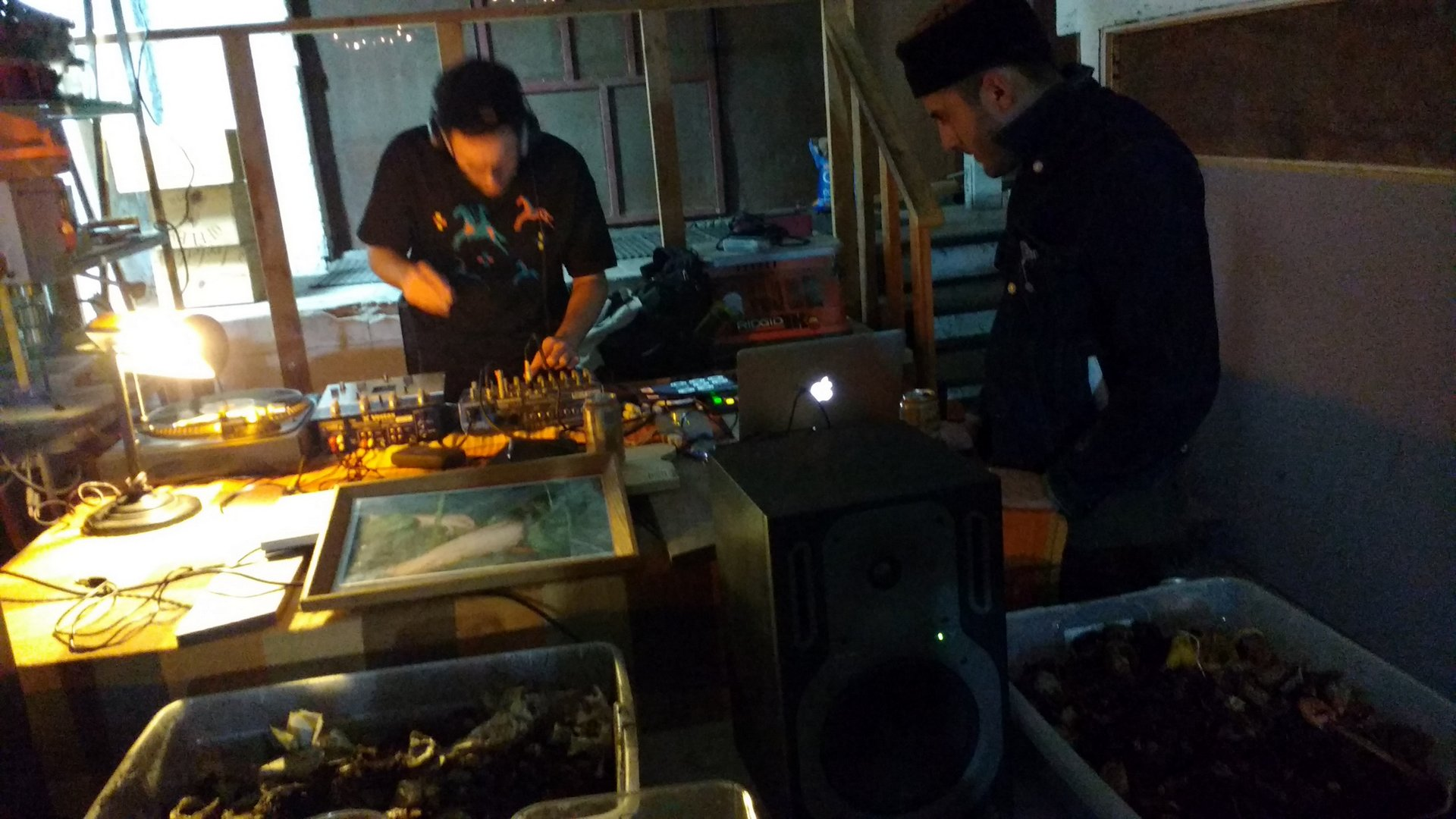 DJ set at Dirtmaking event
