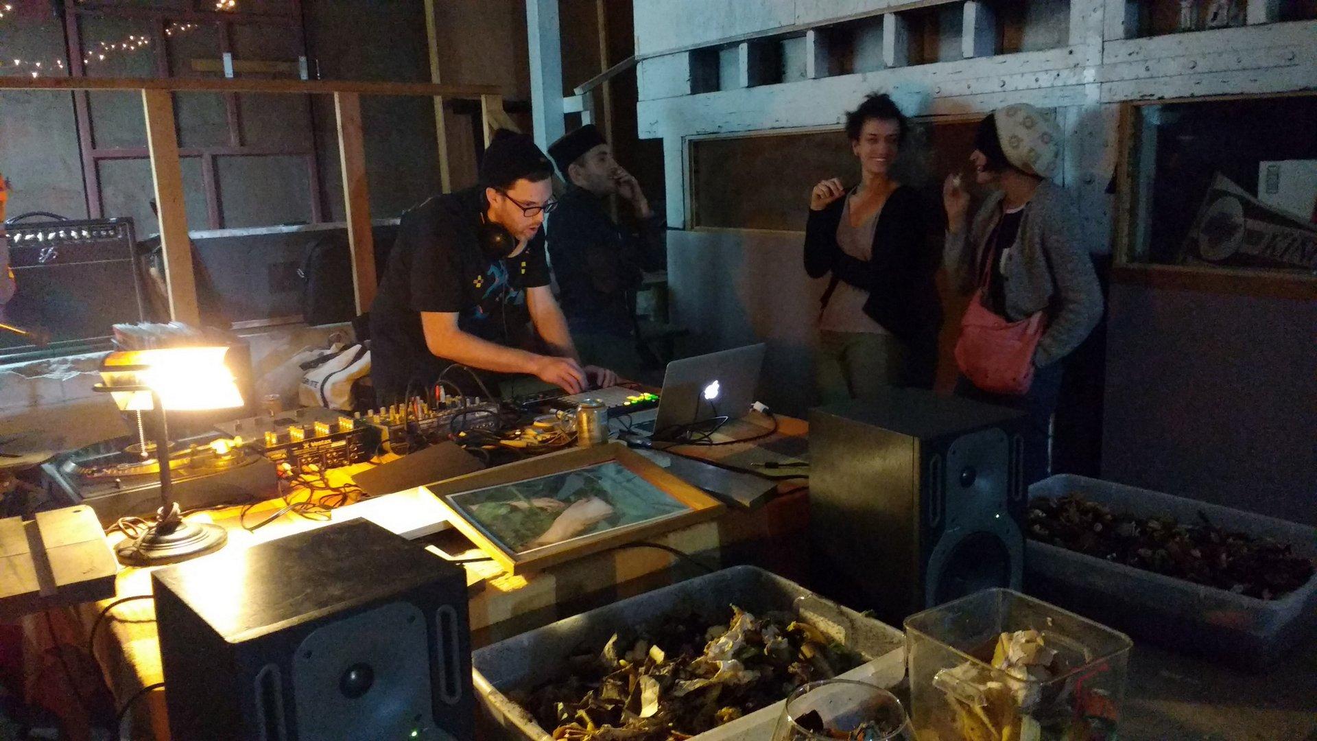 DJ mixing at Dirtmaking