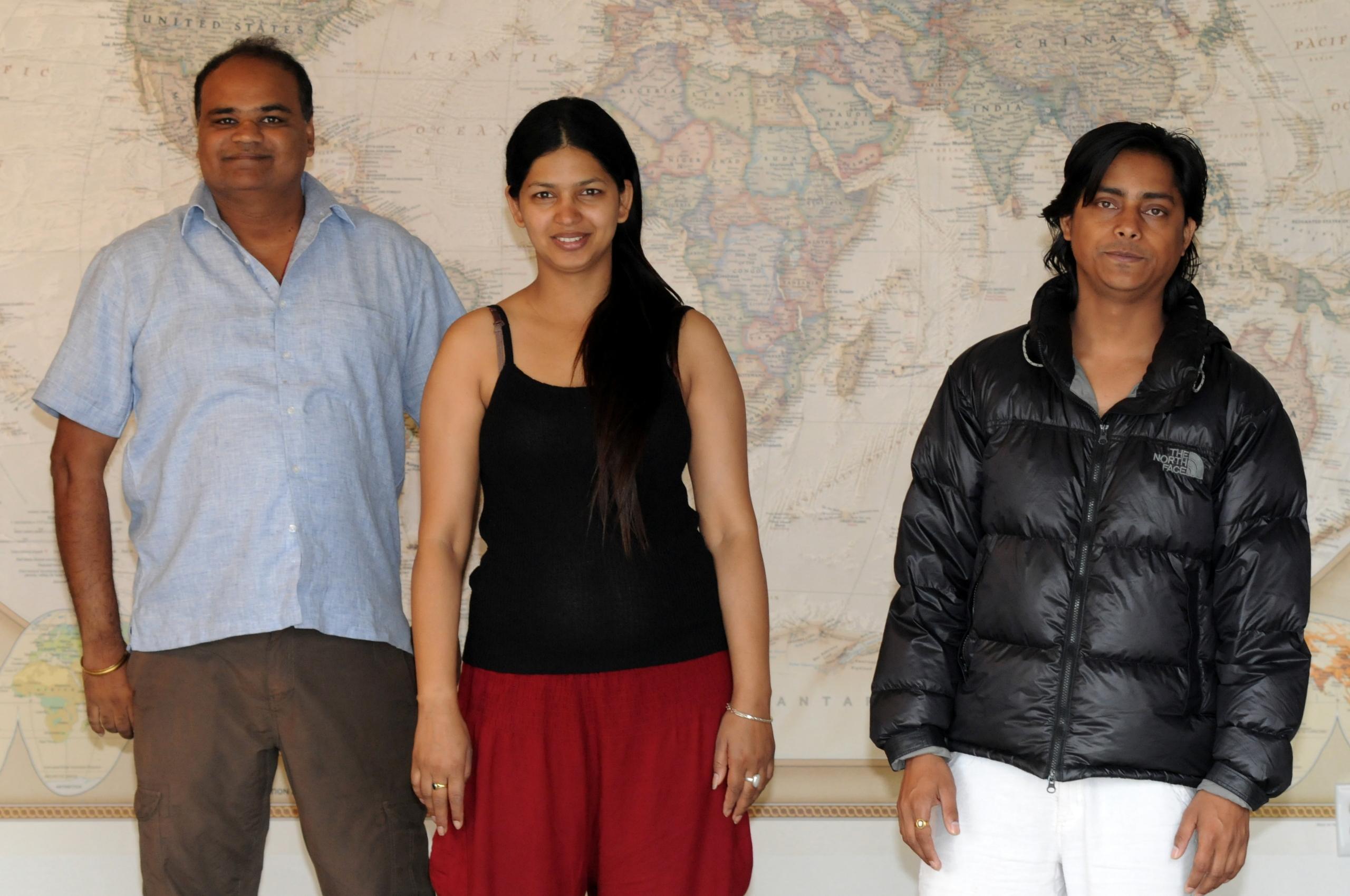 Kamal, Puja & Dharma from Nepal