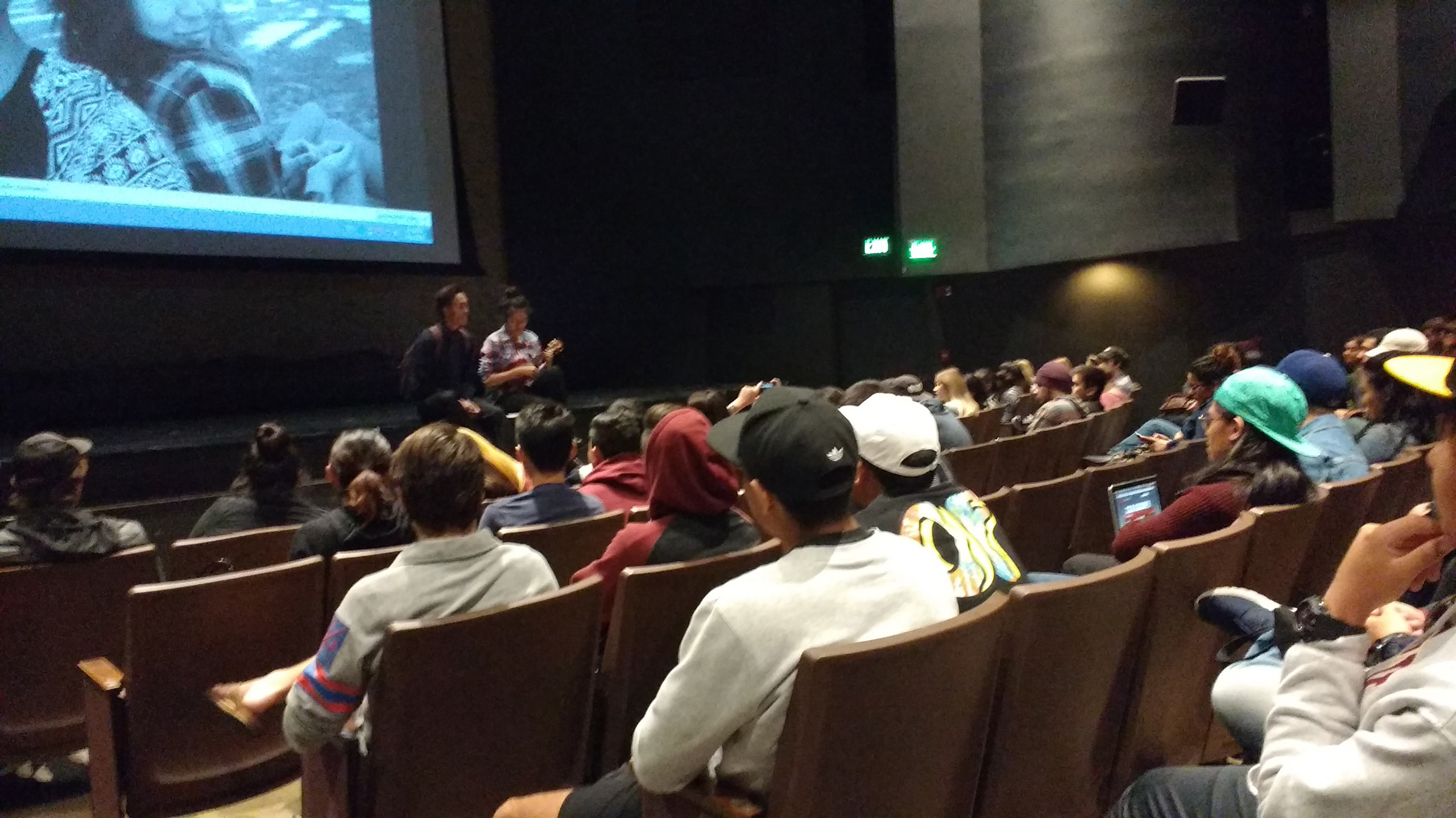 Anthony & Hannah singing in CSULB's University Theatre