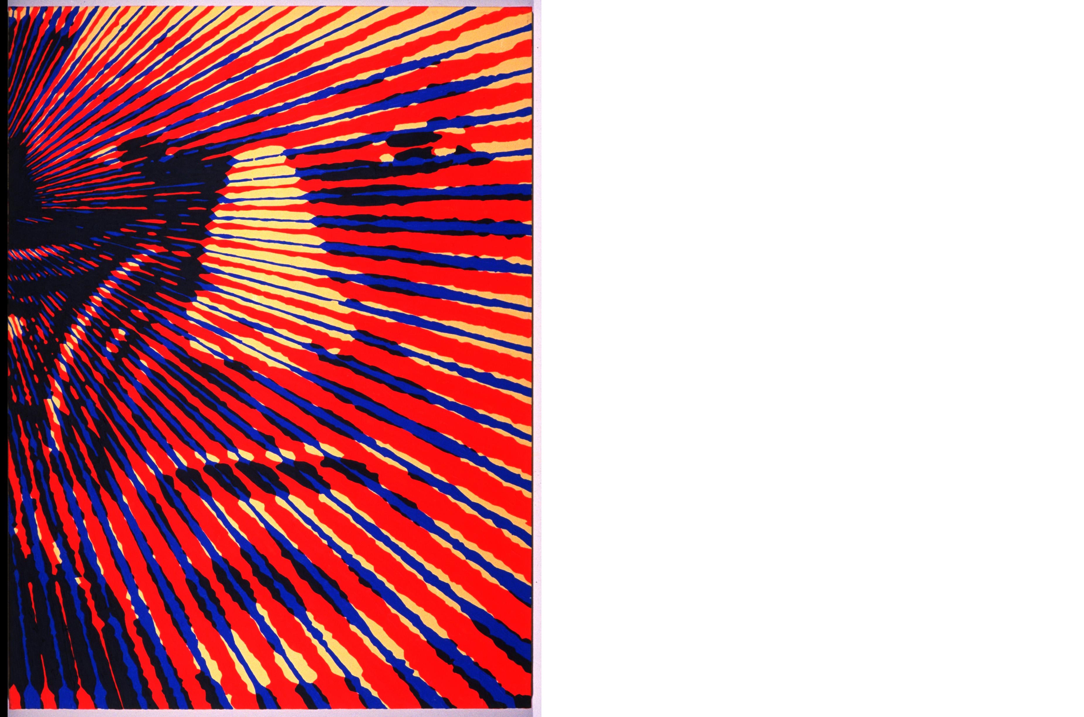 "Locutus, 40"" x 30"", acrylic on canvas, 1997, Glenn Zucman"