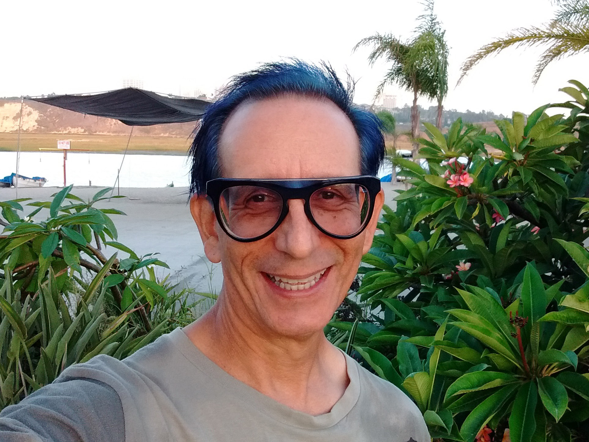 Glenn Zucman wearing SEE Mondo Randy frames at the Newport Aquatic Center in Newport Beach, California