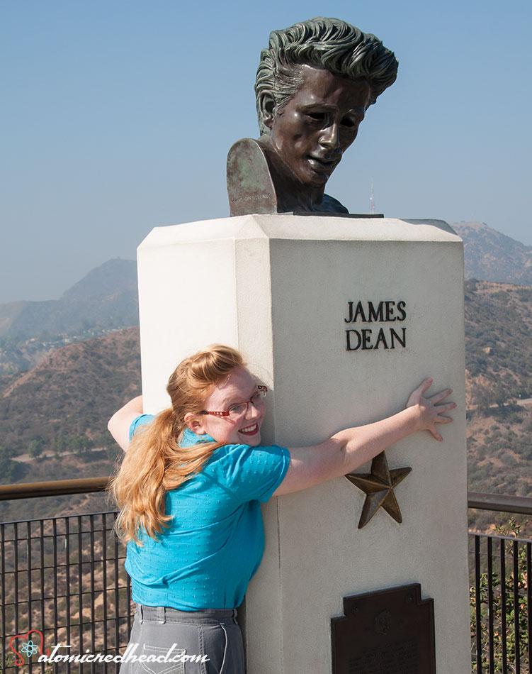Rebecca huggin the James Dean Sculpture