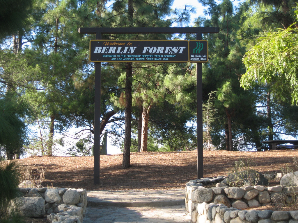 Berlin Forest sign at Griffith Park