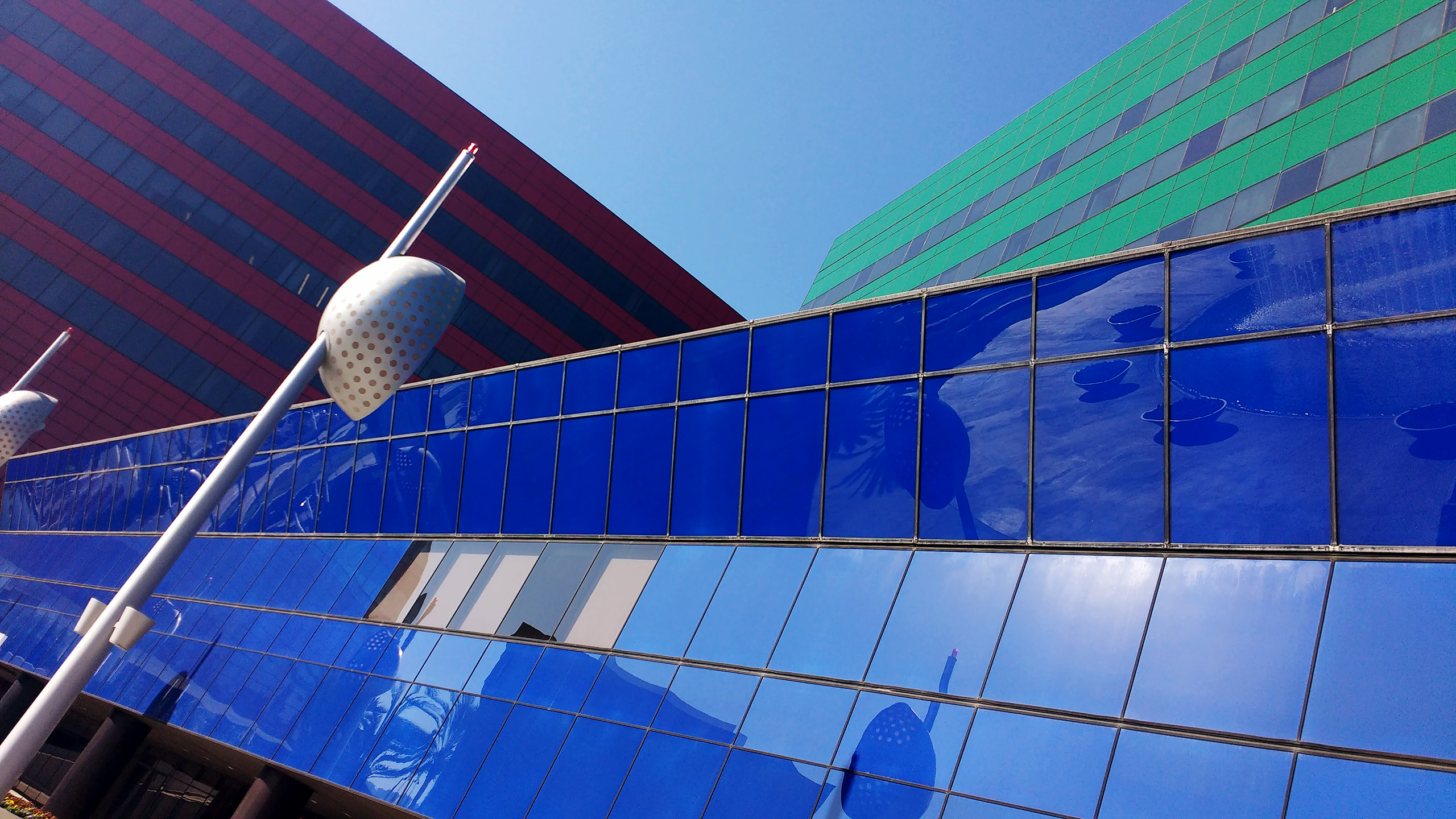 The Blue, Green & Red buildings at the Pacific Design Center in West Los Angeles
