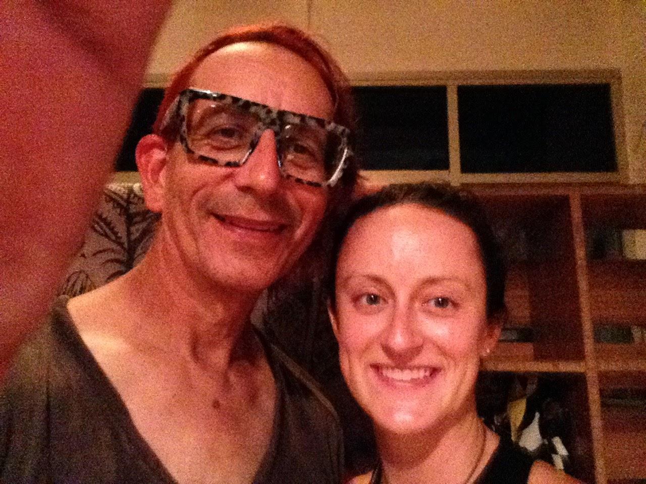 selfie of Glenn Zucman & Marielle Ebersol in a yoga studio in Venice, CA