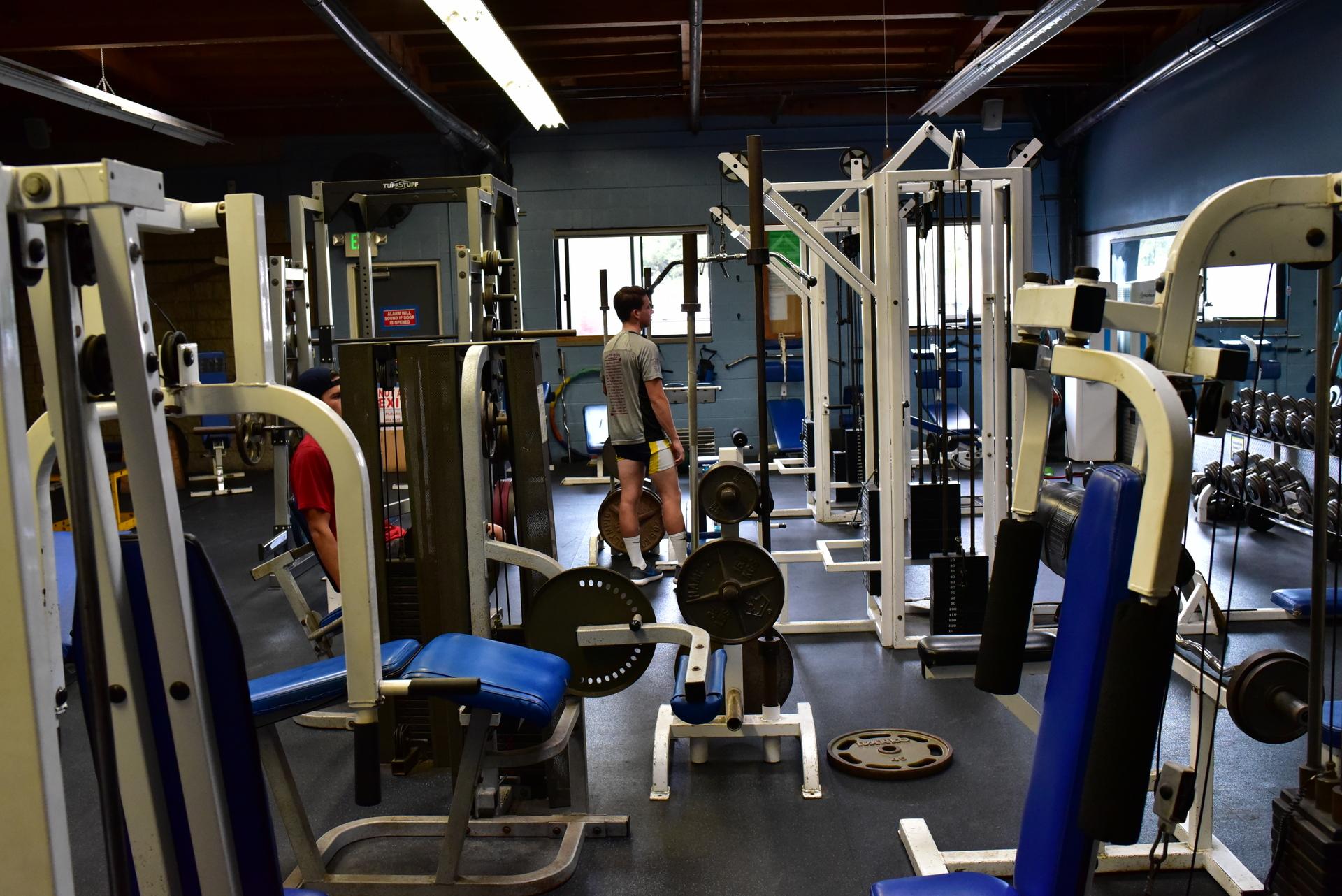 weight room at Newport Aquatic Center in Newport Beach, CA