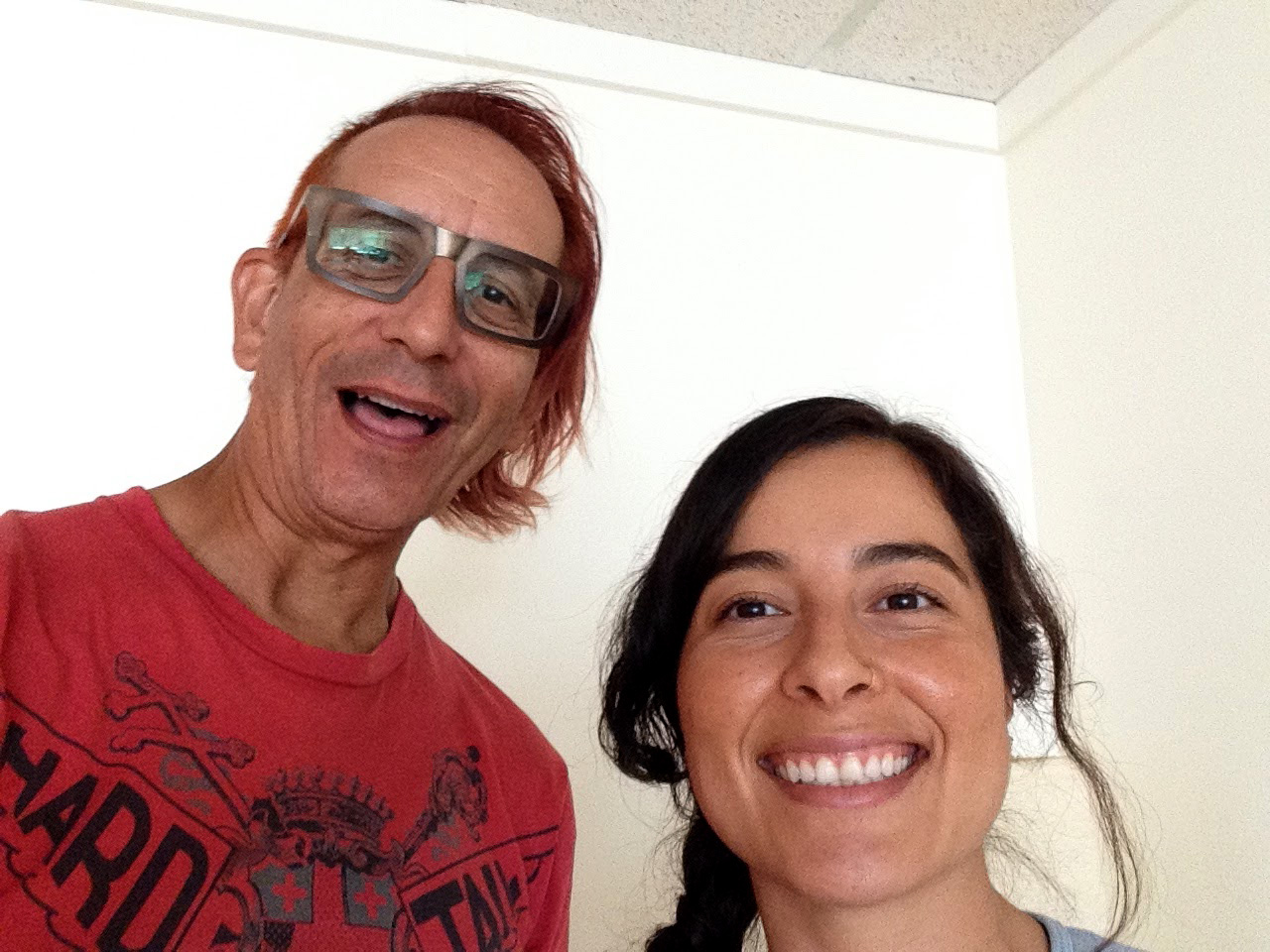 photo of Glenn Zucman & Jocelyn Ramirez at People's Yoga in East Los Angeles, California