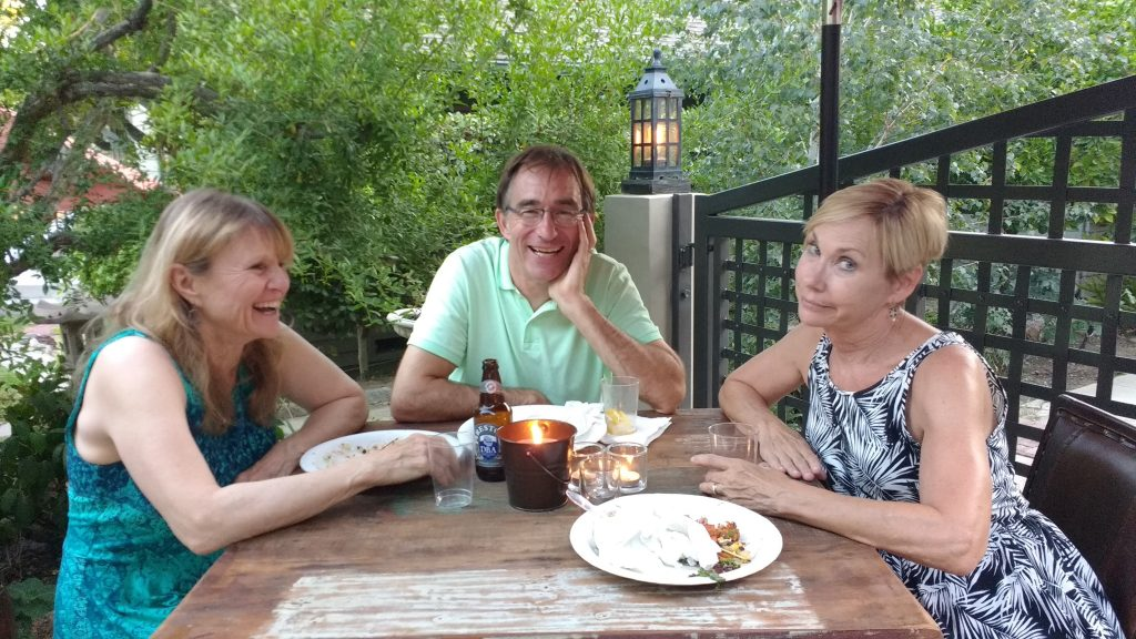 Tanya, Jeff & Linda at Disneyland Entertainment Art Department reunion party in Pasadena, CA. Saturday 14 August 2016