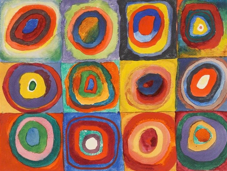 Squares with Concentric Circles, Wassily Kandinsky, 1913