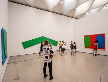 Ellsworth Kelly's Green Angle, 1970, is hung wrong at The Broad Museum