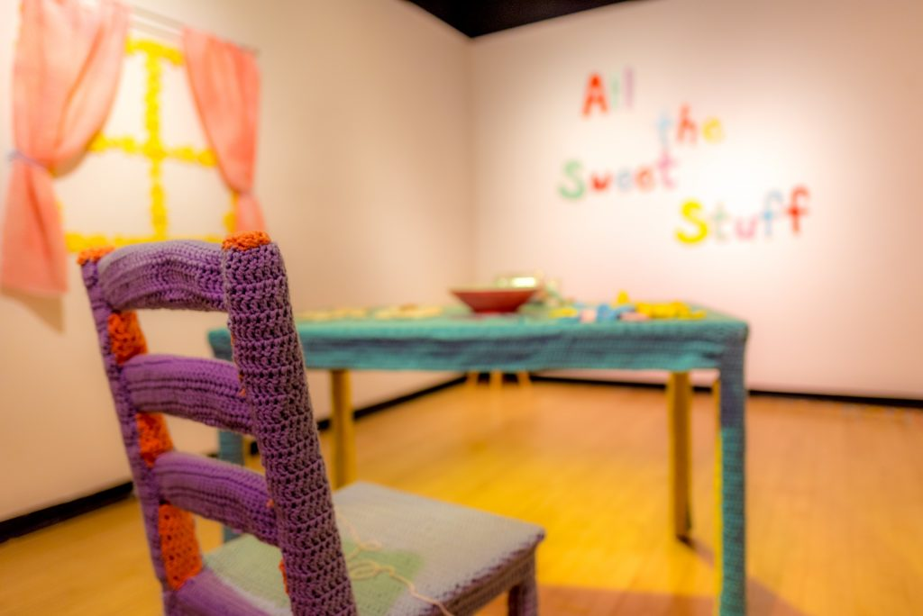 <i>All the Sweet Stuff,</i> Claudia V. Solorzano. Long Beach State University, School of Art, Merlino Gallery, December 2017. Installation view.