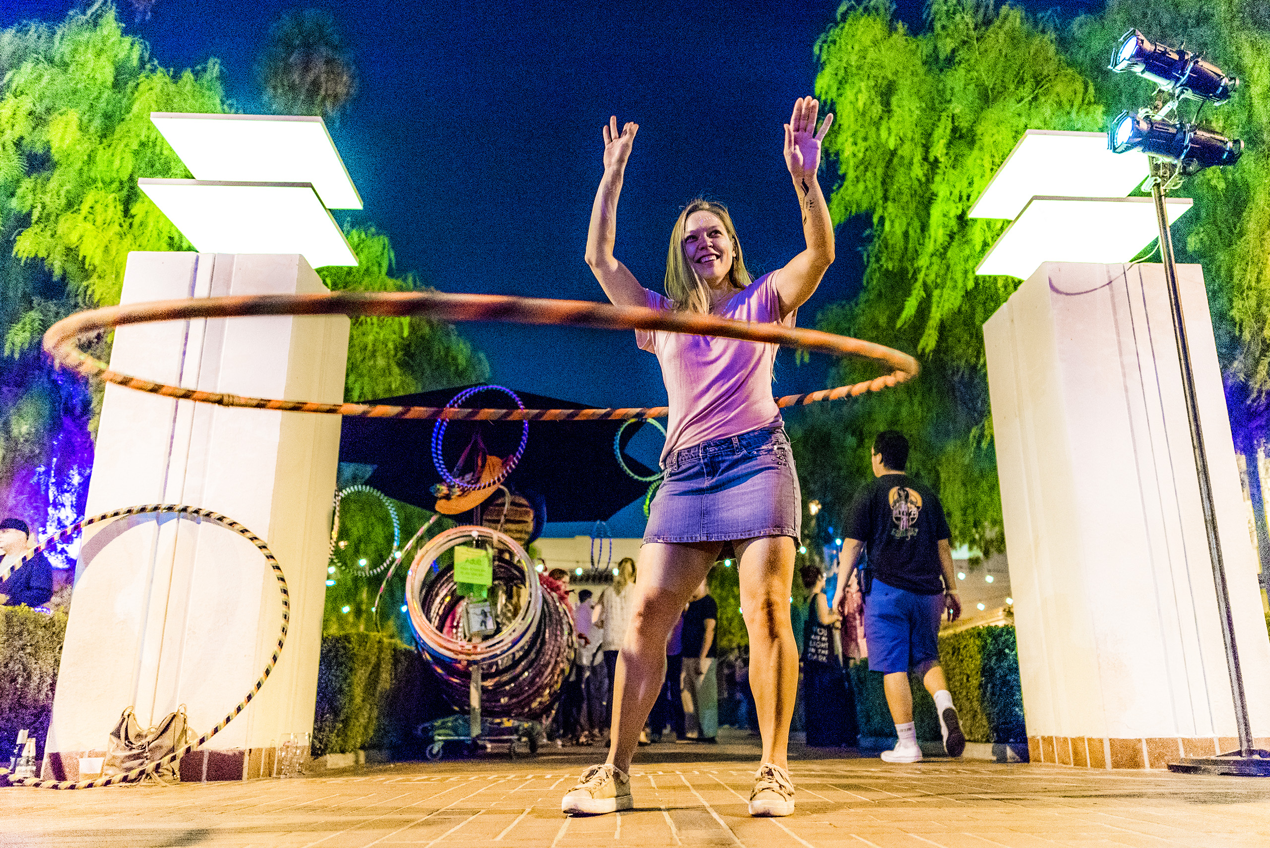 KCRW Nite at Union Station, with DJ's and giant hula hoops