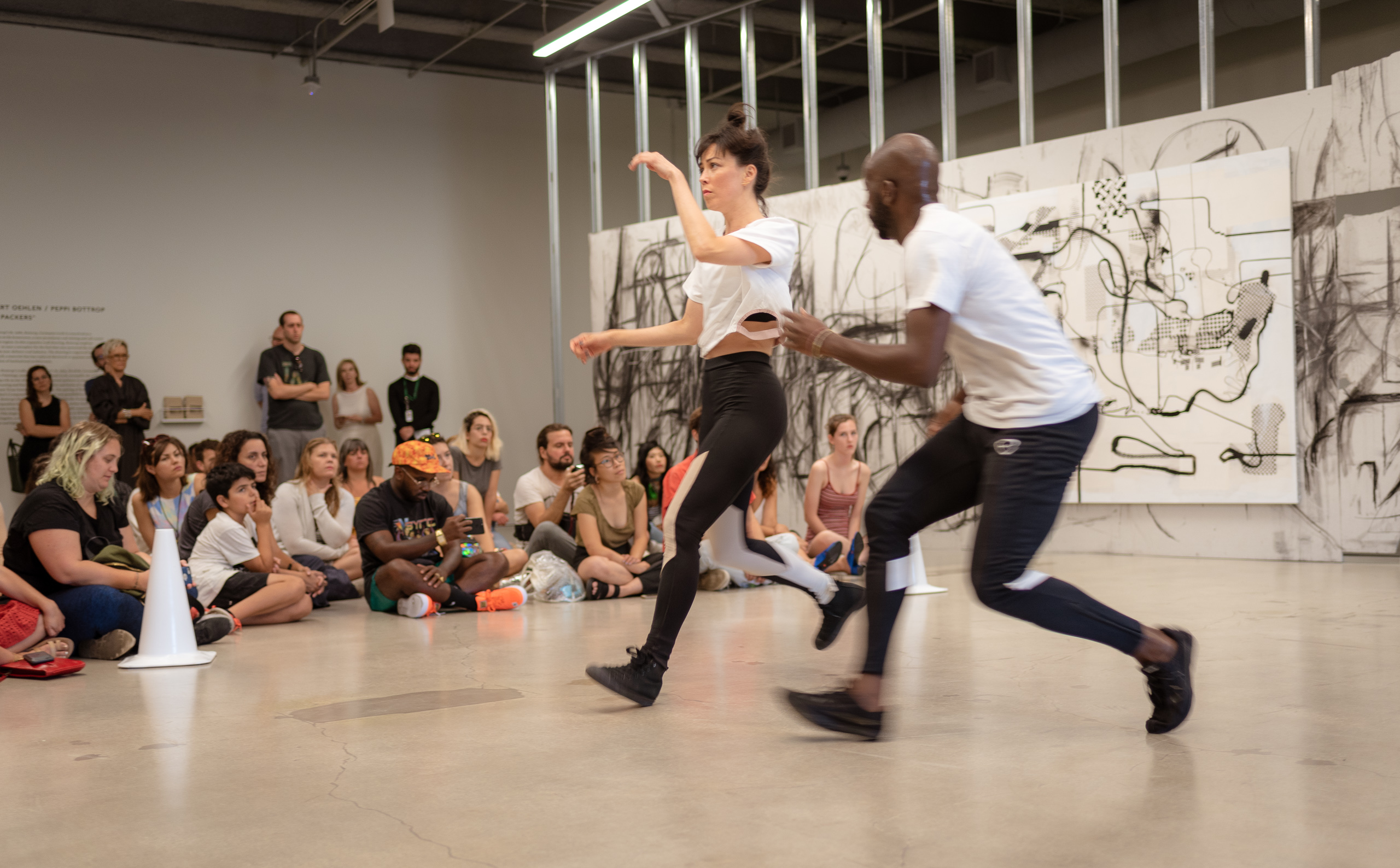 Maceo Paisley and Katie Malia performing their new work <i><p id=