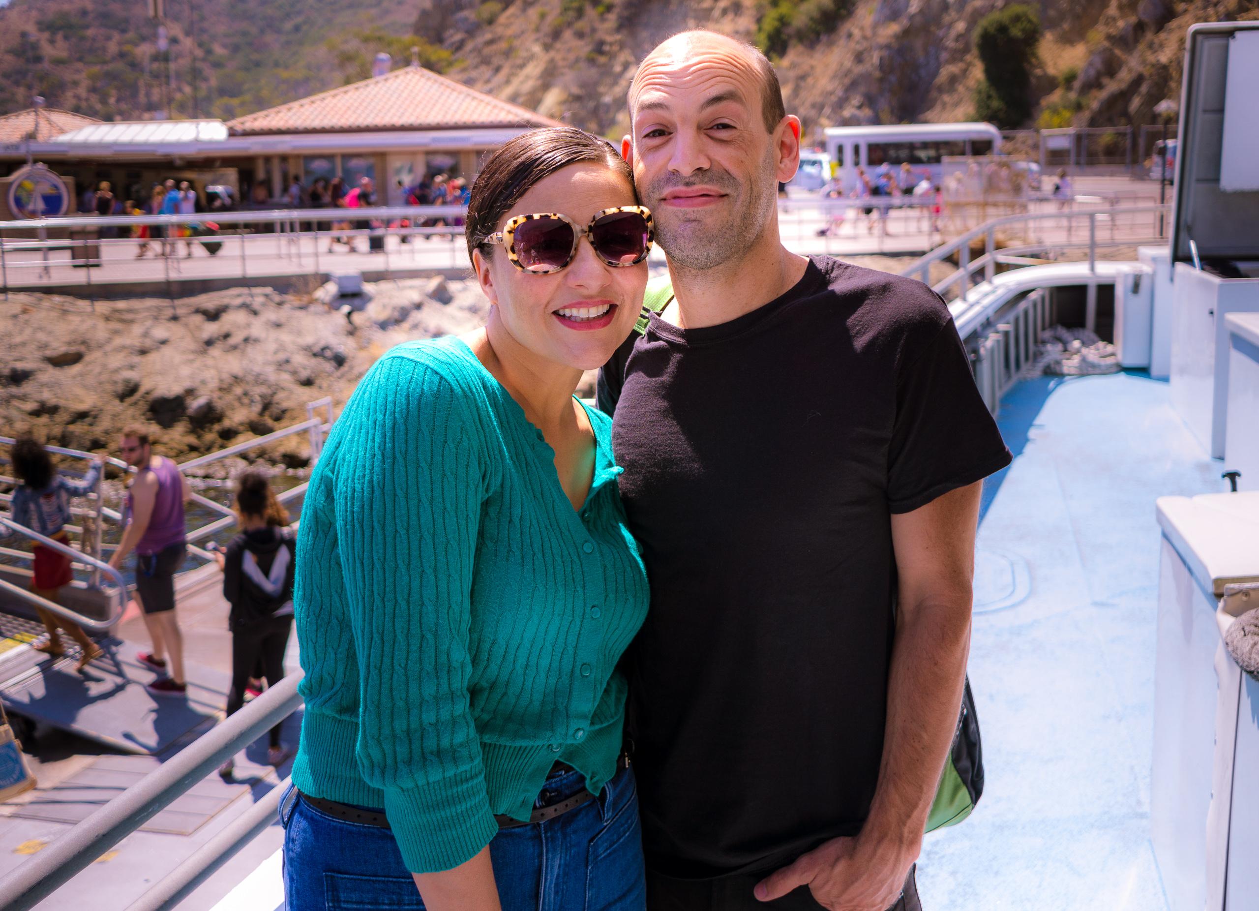Jennifer & Alan arriving in Avalon, Catalina via Catalina Express