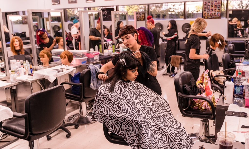 Students In The SMC Cosmetology Program Cut, Color, Curl, And Perform Other Skills On The Hair Of Classmates And Outside Clients In The SMC Cosmetology Salon In The Business Building On SMC's Main Campus On Thursday, April 18, 2019. (Glenn Zucman/The Corsair)
