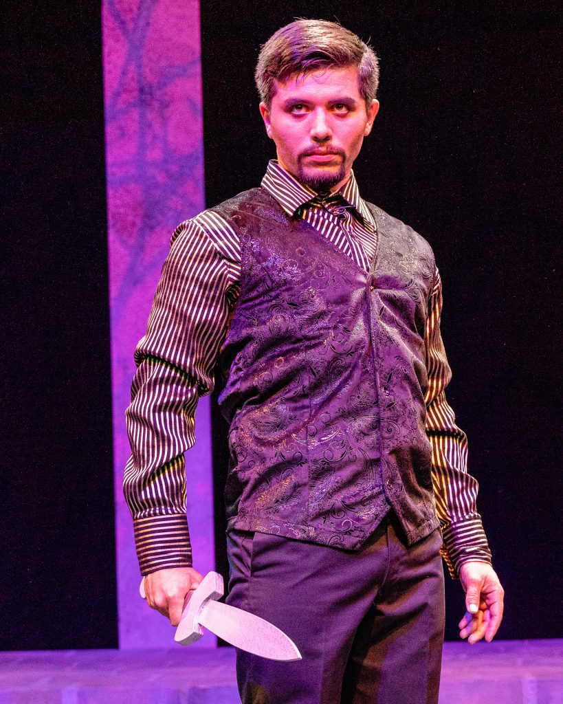 Ángel Ádan Salas (Macbeth) Delivers A Monologue During A Rehearsal For Flamenco Macbeth On The SMC Studio Stage On Thursday, April 25, 2019. Flamenco Macbeth Is An Adaptation From Shakespeare By SMC Theatre Arts Department Chair Perviz Sawoski. Performances Are In The SMC Studio Stage On April 26, 27, 28, And May 3, 4, 5. (Glenn Zucman/The Corsair)