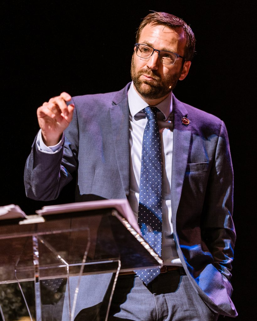 "California State Senator Ben Allen (SD26 - Santa Monica) Speaks On The California Housing Crisis At ""Where Goes The Road To Solving California's Housing Crisis"" On The SMC Broad Stage On Thursday, May 9, 2019. Senator Allen Said, ""If You Don't Like This Path [SB-50], We've Got To Figure Out Another One."" The SMC Public Policy Institute Is Presenting Its 8th Annual Spring Symposium, ""There Goes The Neighborhood, Part II: How Might Policy Approaches Prevent Displacement In Neighborhoods Affected By Gentrification?"" From May 4-9. Tonight's Final Event In The Series Is ""Where Goes The Road To Solving California's Housing Crisis? A Keynote Discussion With Legislative Leaders."" The Panel Includes California State Legislators Senator Ben Allen (SD26 – Santa Monica) And Senator Scott Weiner (SD11 – San Francisco), Author Of SB 50 Which Proposes Bold Approaches To California's Housing Issues, And Santa Monica Mayor Gleam Davis, A Former Co-Chair Of Santa Monicans For Renters' Rights And Leading Advocate For Santa Monica's Innovative Policy Solutions And Funding For Affordable Housing."" (Glenn Zucman/The Corsair)"