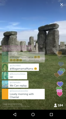 Screen cap of Periscope Broadcast