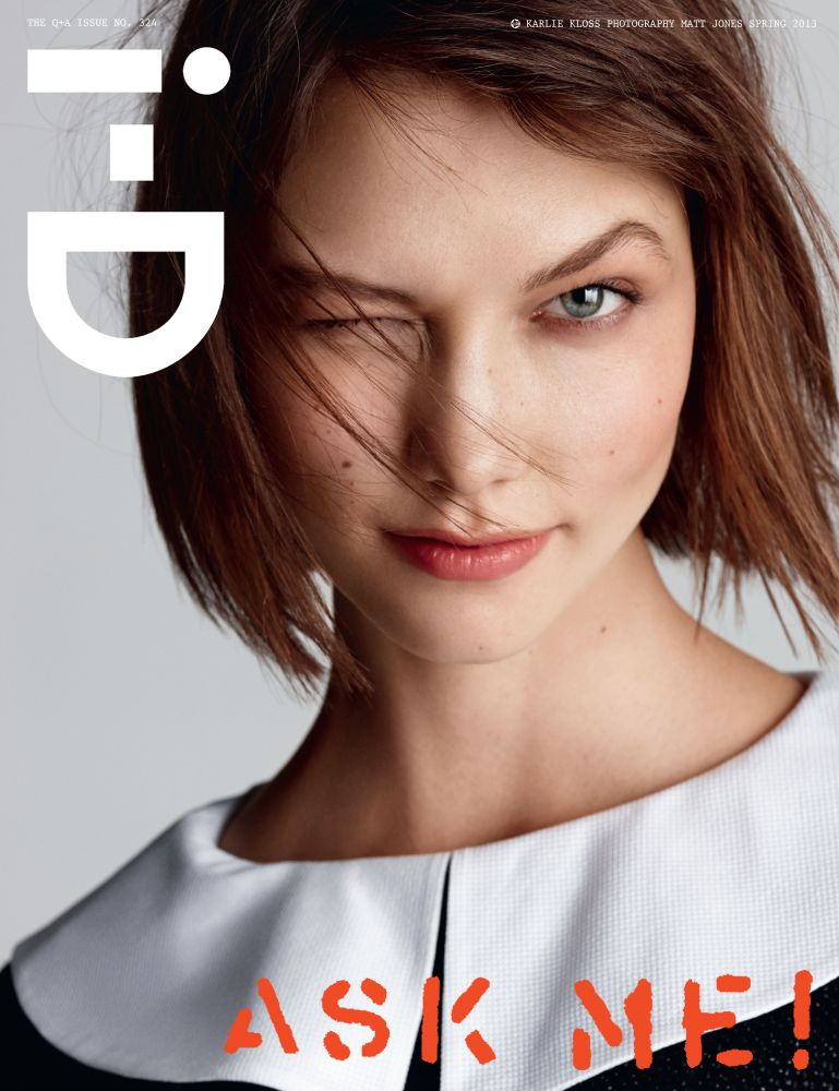 image of Karlie Kloss on the cover of iD Magazine