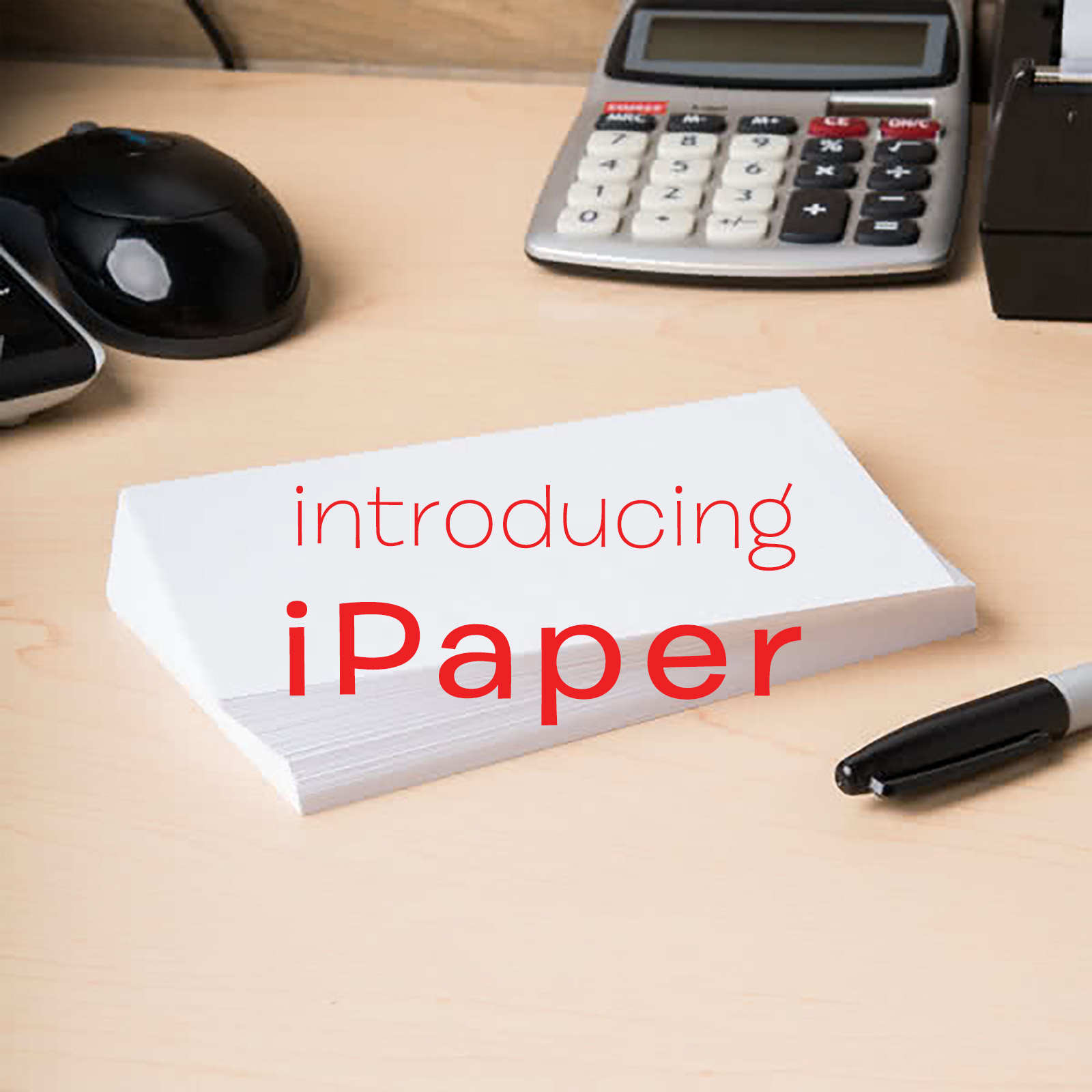 "image of white index cards with the title ""Introducing iPaper"" superimposed"