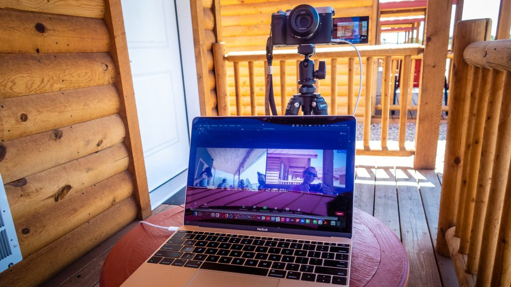 Image of a laptop using Zoom